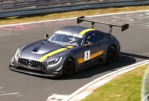 2016 Mercedes-AMG GT3 race car at the Nürburgring