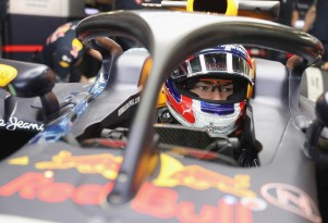 2016 Red Bull Racing Formula One car equipped with Halo cockpit protection