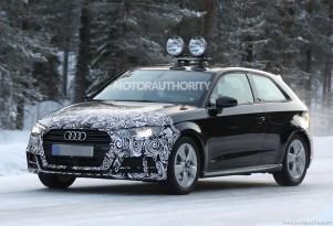 2017 Audi A3 Hatchback facelift spy shots - Image via S. Baldauf/SB-Medien
