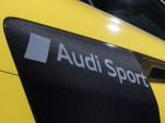 "2017 Audi R8 with matte ""Audi Sport"" logo embedded on side blades"