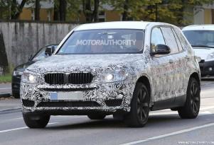 2017 BMW X3 spy shots - Image via S. Baldauf/SB-Medien