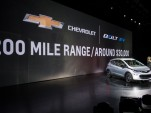 2017 Chevy Bolt EV electric car: 238-mile EPA range rating, 119 MPGe combined