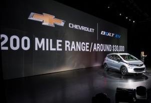 2017 Chevy Bolt EV electric car: 238-mile EPA range rating, 119 MPGe combined