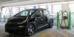 Fast-charging a 2017 Chevrolet Bolt EV electric car