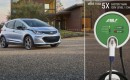 2017 Chevrolet Bolt EV electric car with Aerovironment EVSE-RS charging station