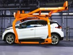 2017 Chevrolet Bolt EV pre-production vehicles at Orion Township Assembly Plant, March 2016