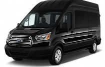 "2017 Ford Transit Wagon T-350 148"" High Roof XLT Sliding RH Dr Angular Front Exterior View"