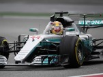 Mercedes AMG's Lewis Hamilton at the 2017 Formula One Chinese Grand Prix