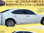 2017 Lexus LS test mule spy shots - Image via Mag-X