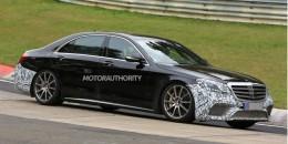 2017 Mercedes-AMG S63 facelift spy shots - Image via S. Baldauf/SB-Medien