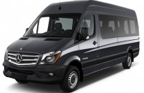 "2017 Mercedes-Benz Sprinter Passenger Van 2500 High Roof V6 170"" RWD Angular Front Exterior View"