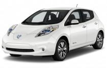 2017 Nissan Leaf SL Hatchback Angular Front Exterior View