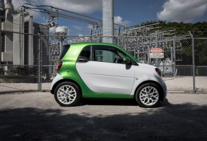 Smart to be all-electric in U.S. and Canada; gasoline goes away this fall