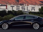 2017 Tesla Model 3, in photo tweeted by Elon Musk on July 9, 2017