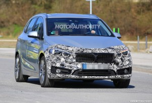 2018 BMW 2-Series Active Tourer facelift spy shots - Image via S. Baldauf/SB-Medien