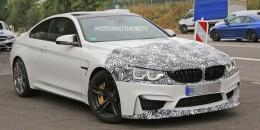 2018 BMW M4 facelift spy shots - Image via S. Baldauf/SB-Medien
