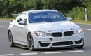 2018 BMW M4 GT4 race car spy shots - Image via S. Baldauf/SB-Medien