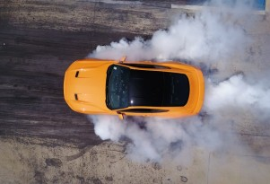 2018 Ford Mustang EcoBoost line-lock burnout