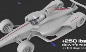 2018 IndyCar body aerodynamic improvements