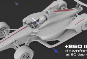 2018 IndyCar body aerodynamic improvements