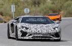 2018 Lamborghini Aventador Roadster spy shots