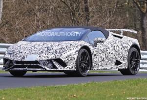 2018 Lamborghini Huracán Performante Spyder spy shots - Image via S. Baldauf/SB-Medien