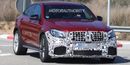 2018 Mercedes-AMG GLC63 Coupe spy shots - Image via S. Baldauf/SB-Medien