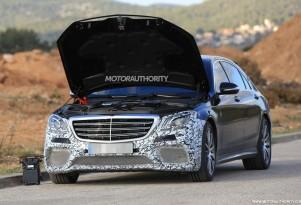 2018 Mercedes-AMG S63 facelift spy shots - Image via S. Baldauf/SB-Medien
