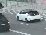 2018 Nissan Leaf caught without camouflage in ad shoot