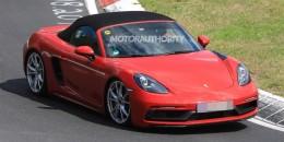 2018 Porsche 718 Boxster GTS spy shots - Image via S. Baldauf/SB-Medien