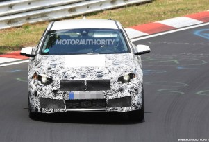 2019 BMW 1-Series Hatchback spy shots - Image via S. Baldauf/SB-Medien
