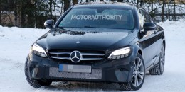 2020 Mercedes-Benz C-Class Coupe facelift spy shots - Image via S. Baldauf/SB-Medien