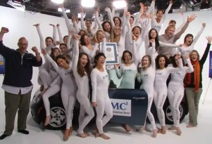 26 people squeeze into MINI Cooper