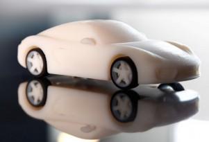 3-D printed Porsche Cayman model