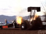 7,000-horsepower dirt dragster launches