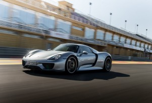 Porsche 918 Spyder road trip celebrating 10 million Facebook fans