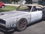 A 1969 Dodge Charger body has been swapped onto a 2016 Hellcat chassis
