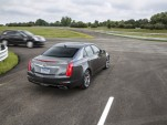 A 2015 Cadillac CTS, equipped with V2V technology