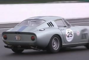 A Ferrari 275GTB driven in the rain at Spa