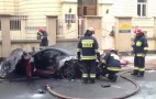 Ferrari California Burns In Warsaw, Poland: Video