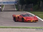 A Ferrari FXX Evoluzione runs at Monza.