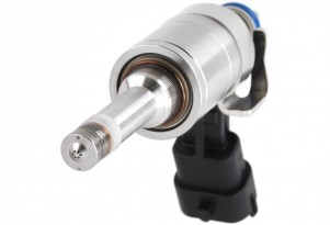 A fuel injector, as used on GM's Gen-V small block V-8