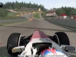 A lap of Spa Francorchamps in the F1 2013 video game