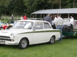 A Lotus Cortina Towing a Lotus 7
