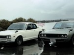 A pair of Nissan Skylines  - image grab from a Petroliscious video