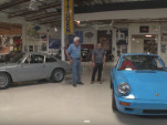 A pair of Porsche 911s make their way into Jay Leno's Garage