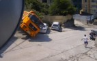 A Rolling Truck Gathers No Cars, It Crushes Them: Video