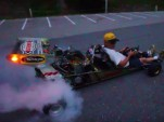 A turbocharged go-kart producing 340 horsepower