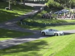 A Veyron driver takes an innovative line at the U.K.'s Prescott hill climb