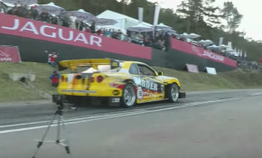 A wide-body R34 Nissan GT-R hill-climb monster
